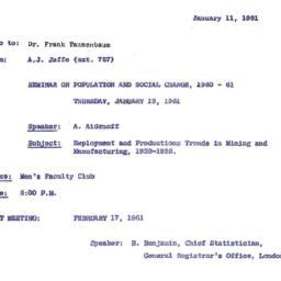 Correspondence, 1961-01-11....