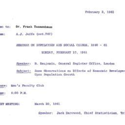 Correspondence, 1961-02-03....