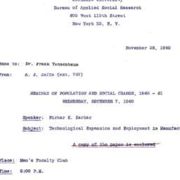 Correspondence, 1960-11-28....