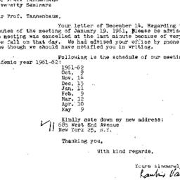 Correspondence, 1961-12-20....