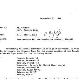 Correspondence, 1969-09-23....