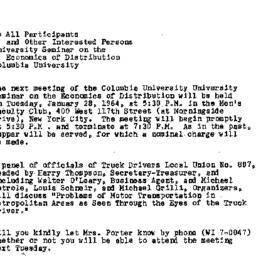 Announcements, 1964-01-21. ...