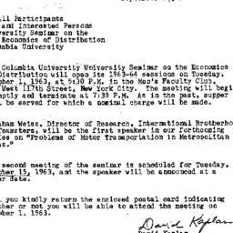 Announcements, 1963-09-18. ...