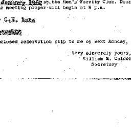 Announcements, 1962-01-18. ...