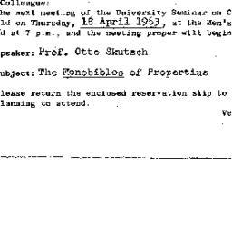 Announcements, 1963-04-18. ...