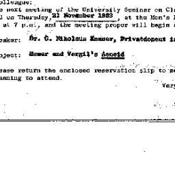 Announcements, 1963-11-21. ...