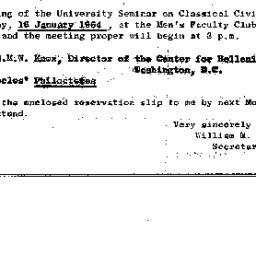 Announcements, 1964-01-16. ...