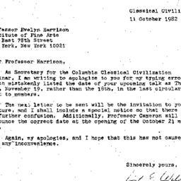Correspondence, 1982-11-11....