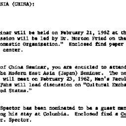 Announcements, 1962-02-21. ...