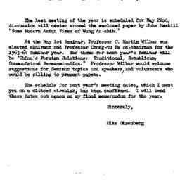 Announcements, 1963-05-22. ...