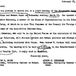 Announcements, 1966-02-28. ...