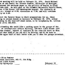 Announcements, 1974-02-08. ...