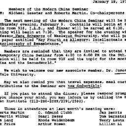 Announcements, 1978-01-18. ...