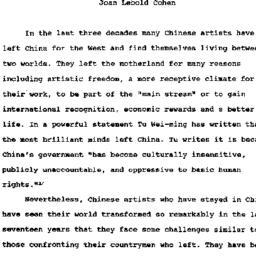 Speaker's paper, 1996-03-07...