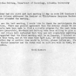 Announcements, 1958-05-19. ...