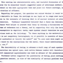 Minutes, 1958-10-14. Mathem...