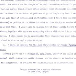 Speaker's notes, 1958-11-05...