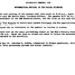Announcements, 1961-03-29. ...