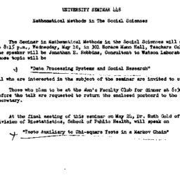 Announcements, 1961-04-26. ...