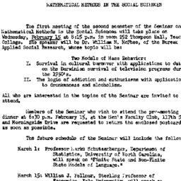 Announcements, 1961-02-15. ...