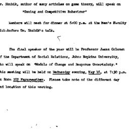 Announcements, 1962-04-27. ...