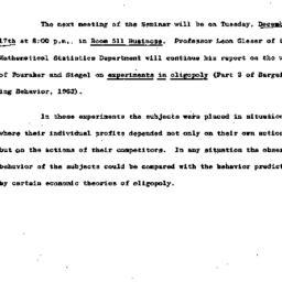 Announcements, 1963-12-05. ...