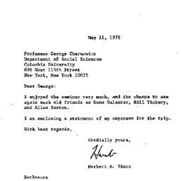 Correspondence, 1978-05-11....