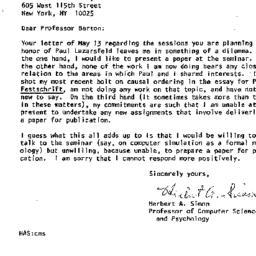 Correspondence, 1978-05-24....