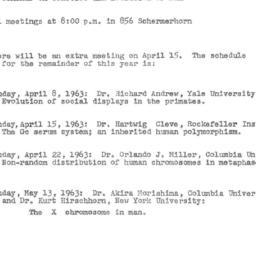 Announcements, 1963-04-08. ...