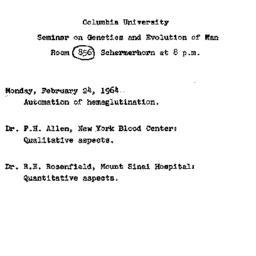 Announcements, 1964-02-24. ...