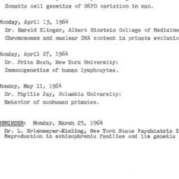 Announcements, 1964-03-26. ...