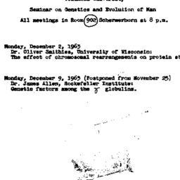 Announcements, 1963-12-02. ...