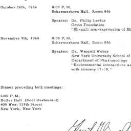 Announcements, 1964-09-29. ...
