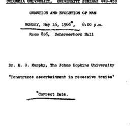 Announcements, 1966-05-16. ...