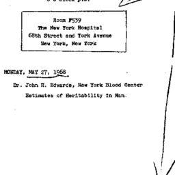 Announcements, 1968-05-27. ...