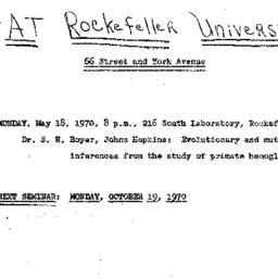 Announcements, 1970-05-18. ...