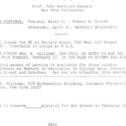 Announcements, 1975-02-19. ...
