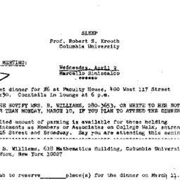 Announcements, 1975-03-11. ...