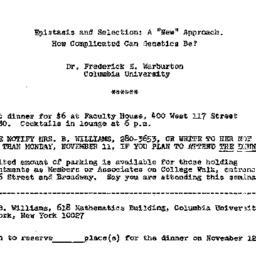 Announcements, 1974-11-12. ...