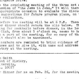 Announcements, 1971-02-26. ...