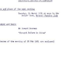 Announcements, 1961-03-14. ...