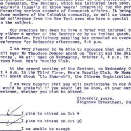 Announcements, 1961-09-26. ...