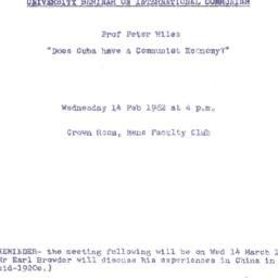 Announcements, 1962-02-14. ...