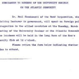 Announcements, 1963-02-21. ...