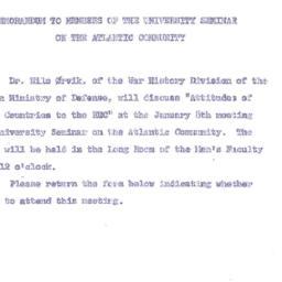 Announcements, 1962-12-18. ...