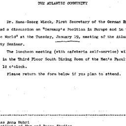 Announcements, 1965-01-11. ...