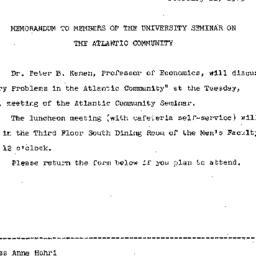 Announcements, 1965-02-22. ...