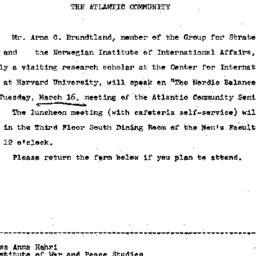 Announcements, 1965-03-02. ...