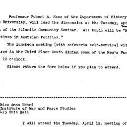 Announcements, 1966-04-04. ...