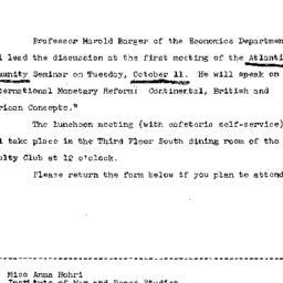 Announcements, 1966-09-28. ...